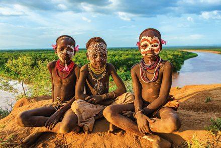 Körperbemalung in Äthiopien