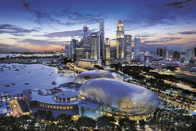 Singapour, une ville moderne en asie