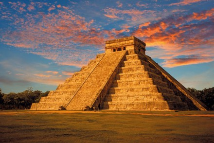 The Kukulkan Temple Yucatan