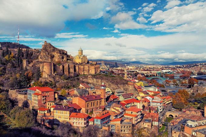 Georgische Hauptstadt Tbilisi