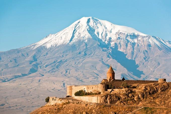 Kloster Chor Wirap und Berg Ararat