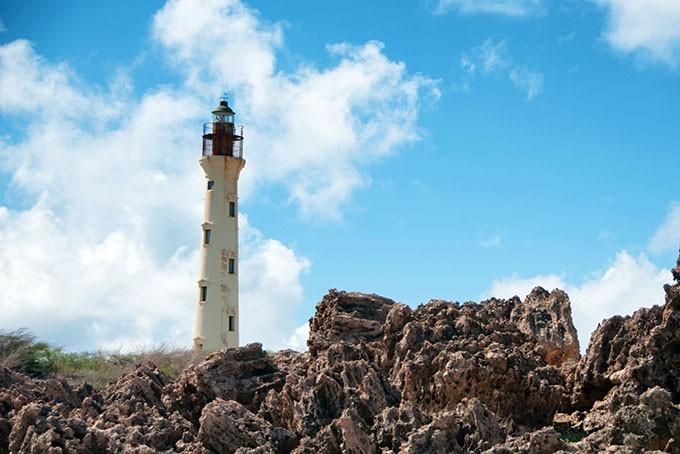 California-Leuchtturm im Norden von Aruba
