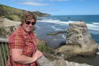 Sonja Frei in Muriwai, Neuseeland