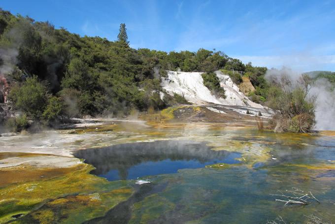 Vulkanische Aktivitäten im Orakei Korako / Hidden Valley
