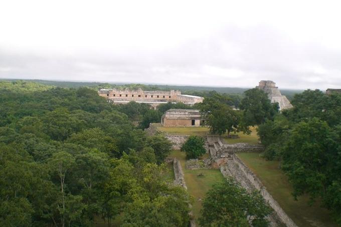 La vue d'Uxmal