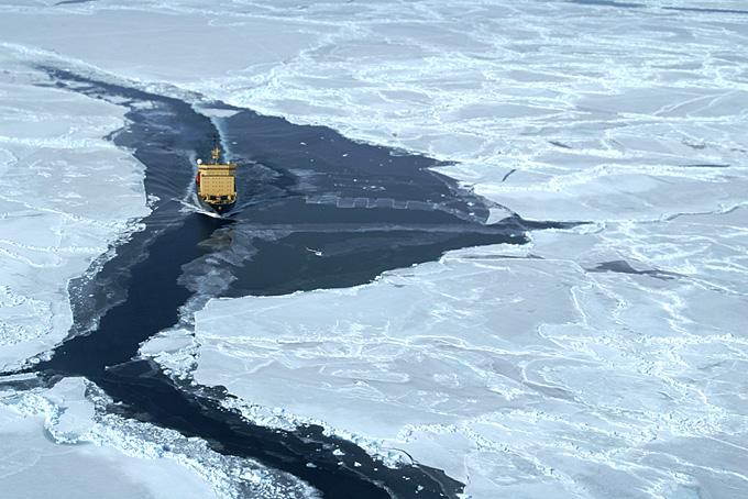 Kapitan Khlebnikov in der Ross Sea