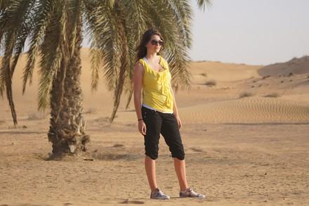 Sandrina Nufer in der Wüste