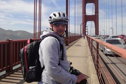Mit dem Fahrrad auf der Golden Gate Bridge