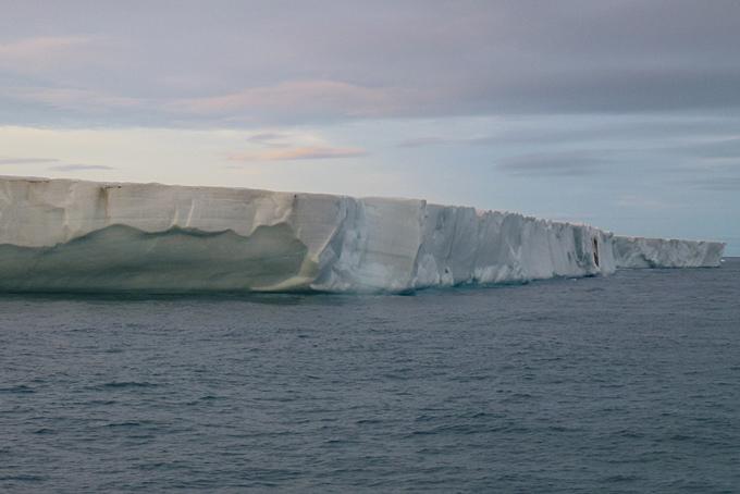 170 km Gletscherfront