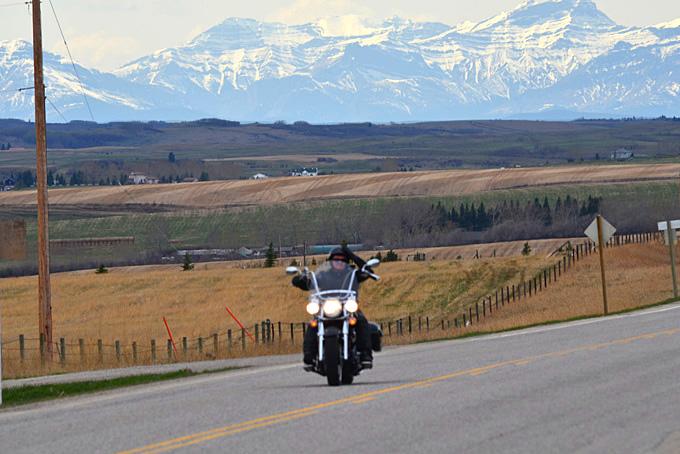 per Motorrad unterwegs
