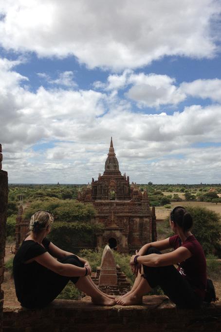 Geniessen die Ruhe in Bagan