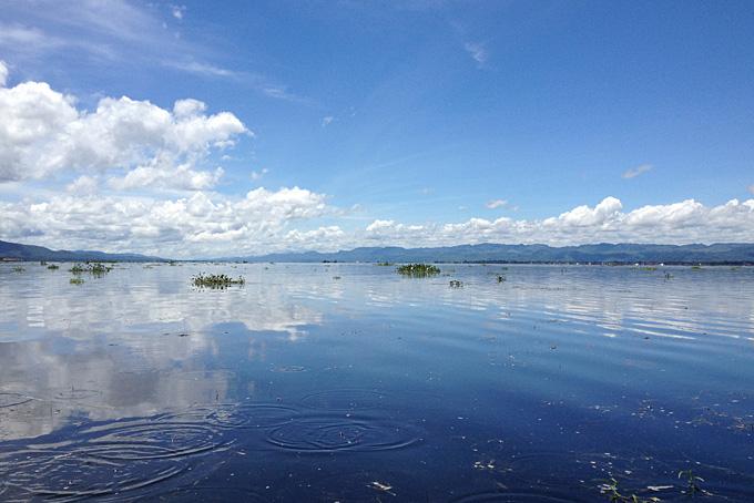 der spiegelglatte Inle See