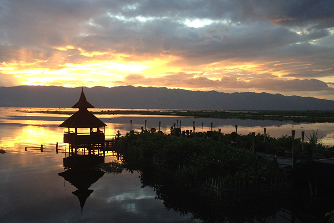 Sonnenuntergang Lake Inle