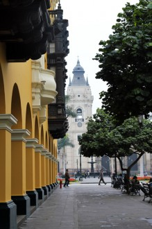 Blick auf die Kathedrale, Plaza De Armas, Lima, Peru