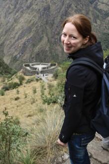 Ich auf dem Inka Trail, Runkuraqay, Peru