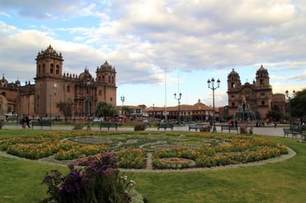 Blick über den Plaza De Armas, Cusco, Peru