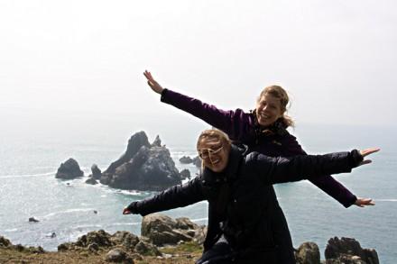 Sandra et Anna sur les îles Anglo-Normandes