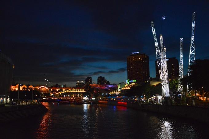 Clarke Quay by night