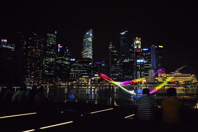 Light-Show at Marina Bay Sands