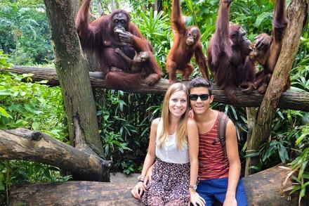 Vanessa Bucher mit ihrem Freund im Zoo