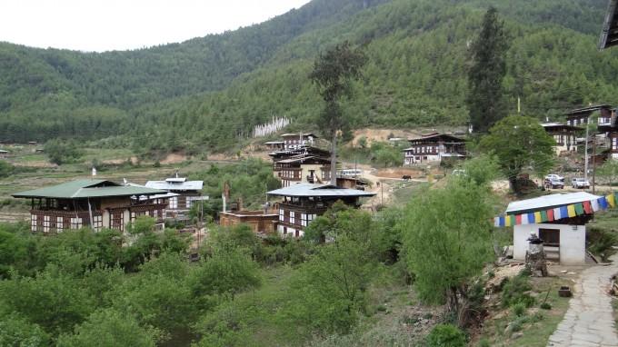 Traditionelle Häuser in Bhutan