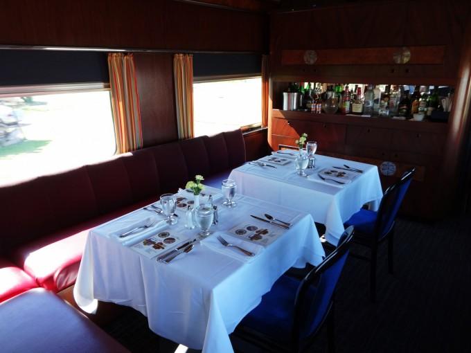 Zugrestaurant, wo wir das Nachtessen einnahmen