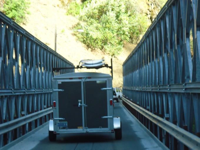 50km vor dem Yosemite-NP wird es eng