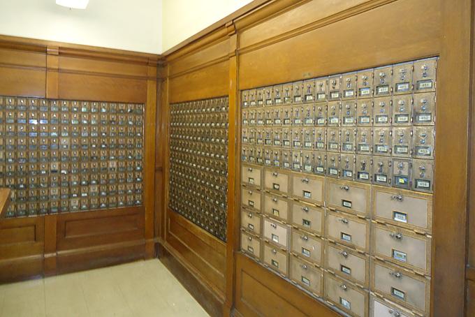 Geschichtsträchtige Postfächer im Yosemite Post Office