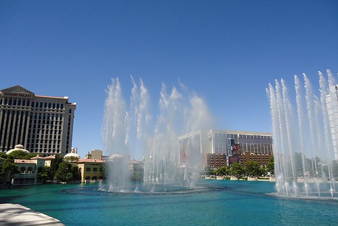 Wasserfontänen mitten in Las Vegas