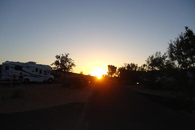 Sonnenaufgang beim Antilope Canyon