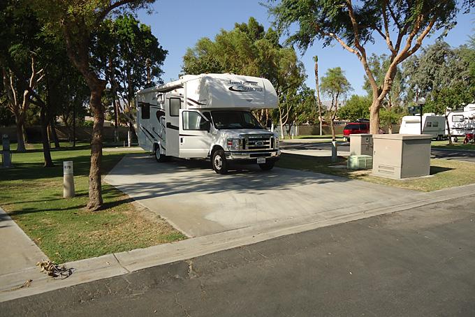 Campground im Esmeralda Desert RV-Beach