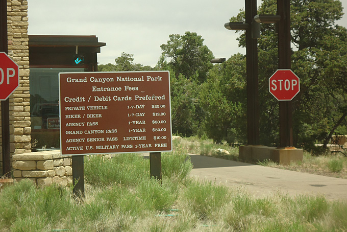 Eingang zum Grand Canyon Nationalpark