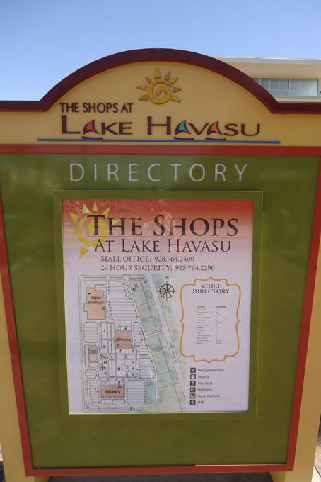 Lake Havasu Informationstafel