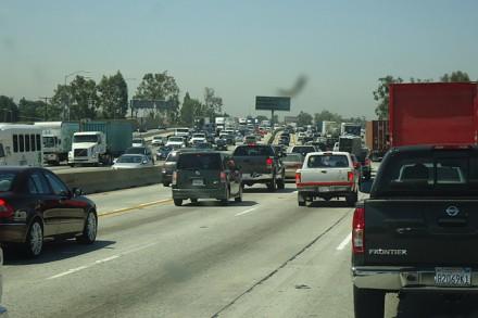 Verkehrsaufkommen kurz vor Los Angeles