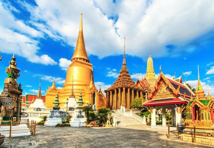 Der Wat Phra Kaeo Tempel in Bangkok