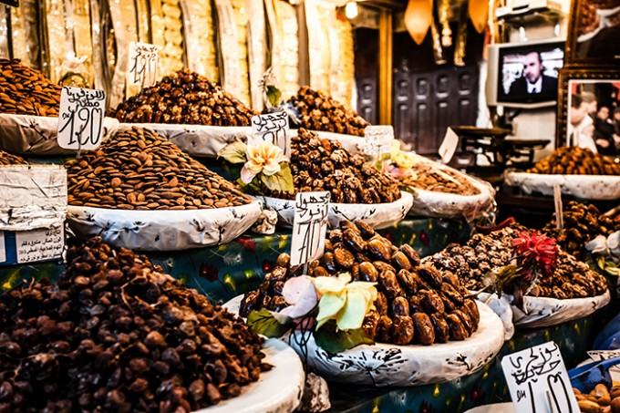 Datteln und Nüsse auf dem Djemaa-el-Fna