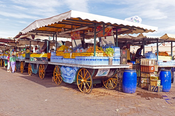 Getränkestand auf dem Djemaa-el-Fna