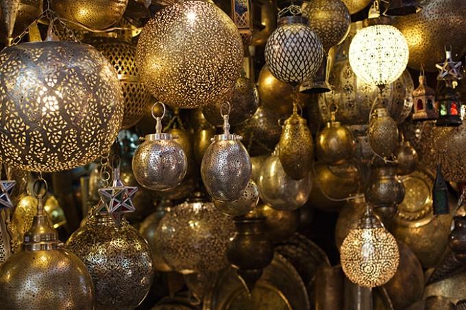 Hübsche Laternen auf dem Djemaa-el-Fna