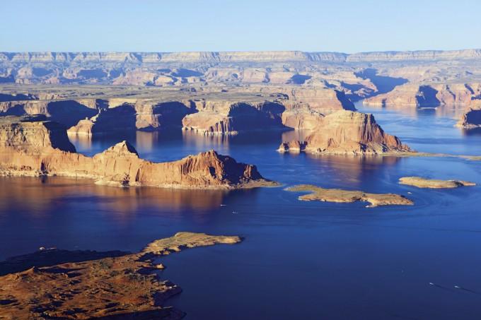 Urlaubs- und Wassersportgebiet Lake Powell, Glen Canyon, Utah und Arizona