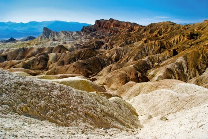 Die extreme Landschaft Death Valley, Kalifornien und Nevada