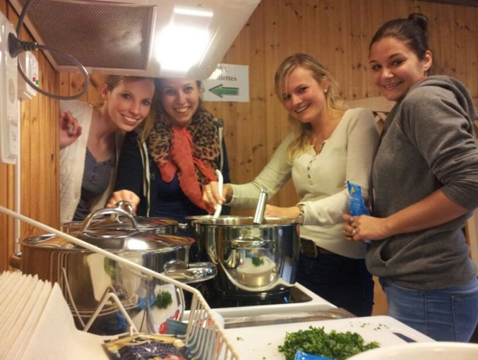 Am 2. Abend kochen wir selber in der Ferienanlage Isaberg