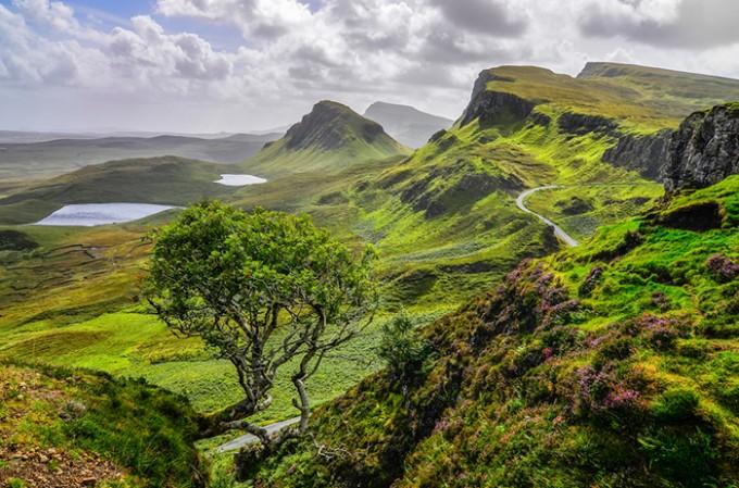 Die Schottischen Highlands auf der Insel Skye
