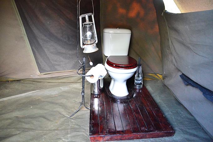 Die eigene Toilette im Zelt