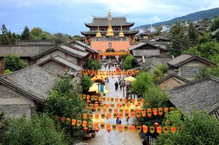 Typische Altstadt in Yunnan