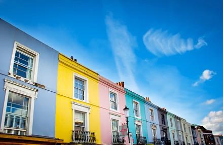 Häuser in allen Farben: Portobello Road