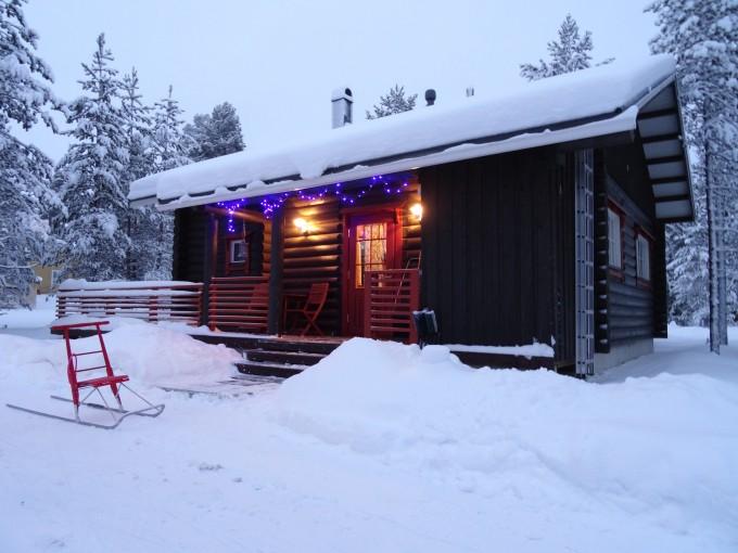 Das Haus Kaarnikatupa in Lappland