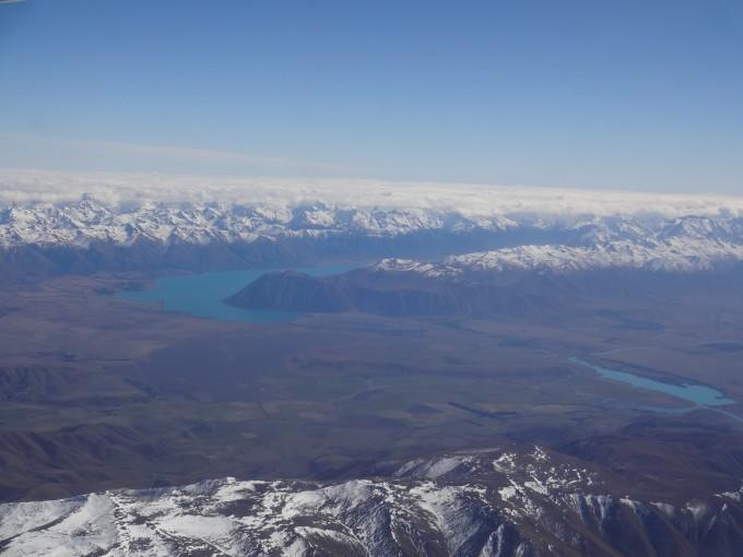 Wunderschöner Ausblick während Inlandflug Nordinsel-Südinsel