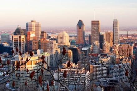 Die Stadt Montréal in Kanada