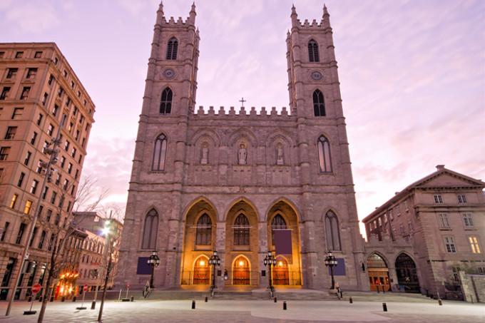 Die Basilika Notre Dame von Montréal