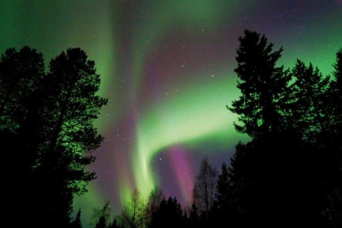 Schneeschuhwanderung unterm Nordlicht in Lappland